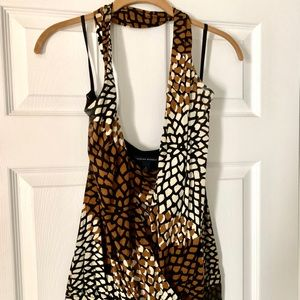 Banana Republic Animal Print Halter Top